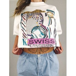 Vintage ⚡️ K-Swiss Graphic Tee